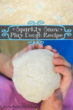 A Little Pinch of Perfect: Sparkly Snow Play Dough Recipe + Free Build a Snowman Olaf Printable