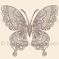 henna butterfly by blue67design, via Flickr