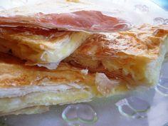 Placinta cu branza si iaurt Romanian Food, Romanian Recipes, Puddings, Lasagna, Baking Recipes, Entrees, Sandwiches, Cheesecake, Dishes
