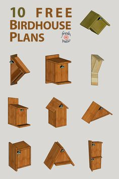 10 FREE Birdhouse Plans Built for 3 As the weather gets warmer we are starting to hear birds singing again they are back and about to make babies It s the perfect time to build Read Awesome Woodworking Ideas, Woodworking Projects That Sell, Woodworking Workshop, Woodworking Techniques, Woodworking Wood, Woodworking Beginner, Router Wood, Woodworking Patterns, Woodworking Magazine