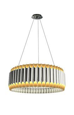 Galliano suspension lamp has a sculptural shape and it's versatile and contemporary. With up to 4 or 5 aluminum tubes, it produces a unique, awesome effect. Bamboo Light, Wall Lights, Ceiling Lights, Dining Lighting, Unique Lamps, Ceiling Lamp, Dining Tables, Dining Rooms, Living Room Designs