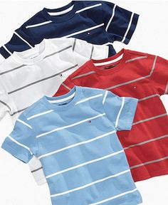 Tommy Hilfiger Kids T-Shirt, Little Boys Dominic Tees - Kids Back To School - Macy's Summer Swag Outfits, Outfits For Teens, Casual Outfits, Frock Fashion, Boy Fashion, Fashion Outfits, Mens Polo T Shirts, Boys T Shirts, Mens Golf Fashion