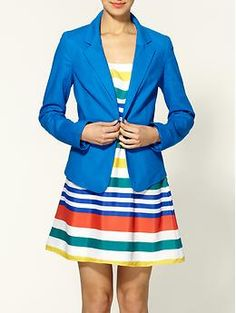 $79 from The Gap and comes in bright blue, yellow, light pink and orange. I want them all.