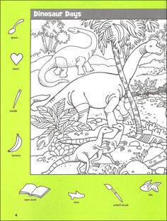 Hidden Picture Highlights Printable - All The Shops Online School Holiday Activities, Activities For Kids, Dinosaur Printables, Dinosaur Puzzles, Colouring Pages, Coloring Books, Highlights Hidden Pictures, Hidden Picture Puzzles, Free Printable Puzzles