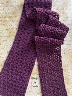 Emily Mulberry Scarf Crochet Pattern