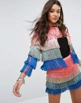 Shop for Missguided Ombre Layered Tassel Jacket at ShopStyle.com