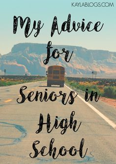 I can't help but realize how much I've grown and how much I've learned since graduation. I wanted to share my advice for high school seniors. Start High School, Senior Year Of High School, High School Seniors, School Fun, School Tips, School Stuff, School Ideas, College Mom, College Years