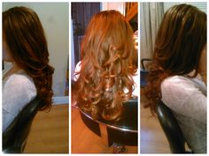 Long hair. Hair. Hair Envy. Curly Blowdry. Curls. Redhead. Bouncy Hair. Blowdry. Practice. Hairdressing. My Work. Hair School.