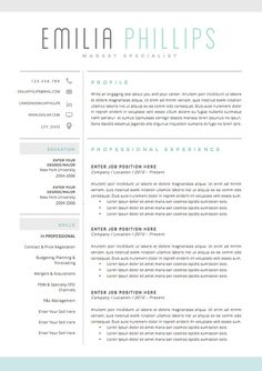 2 Page Resume Examples Custom 20 Beautiful & Free Resume Templates For Designers  Cv Resume .
