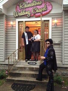 Rhinestone Wedding Chapel Vegas Style In The Heart Of Downtown Nashville Tn Elvis Weddings Chapels Pinterest