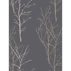 John lewis grey tree print wallpaper £24 per 10m roll