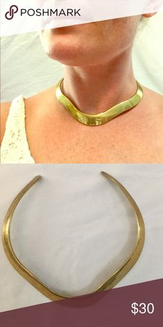 Cool Vintage Brass Choker Stunning Vintage Brass Choker (circa 60's-70's).  Passed down from generations. Fits small to medium size neck. Jewelry Necklaces