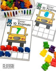 Count the Number of Bears are on the Bus. - Morning Tubs: Bears