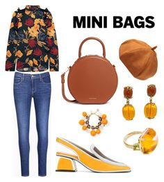 A fashion look from November 2017 featuring floral blouse, levi skinny jeans and slingback shoes. Browse and shop related looks. Slingback Shoes, Orange Bag, Levis Skinny Jeans, Mini Bags, Floral Blouse, Marni, Kate Spade, Fashion Looks, Pearl