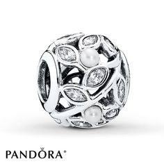 PANDORA Charm Luminous Leaves Sterling Silver