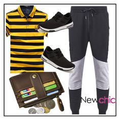 """Newchic Men 2"" by aazraa ❤ liked on Polyvore featuring men's fashion and menswear"