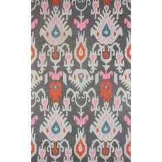 nuLOOM Hand-hooked Ikat Wool Grey Rug (5' x 8') | Overstock.com Shopping - Great Deals on Nuloom 5x8 - 6x9 Rugs