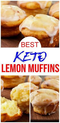 YUMMY keto lemon muffins you will want to bake up today! EASY low carb fathead dough recipe for the BEST muffins. These low carb lemon muffins only take about 10 minutes to mix up and are super… Keto Muffin Recipe, Simple Muffin Recipe, Low Carb Desserts, Low Carb Recipes, Lemon Desserts, Diet Recipes, Snack Recipes, Breakfast Dessert, Low Carb Breakfast