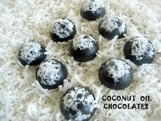 Coconut Oil Chocolates ~ Sugar-free and low carb!