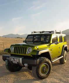 The beautiful Jeep Rescue Concept, the best color for a Jeep obviously!