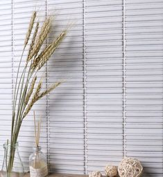 Range of finger mosaic or kit kat tiles Brick Look Tile, Concrete Look Tile, Marble Look Tile, Stone Look Tile, Kitchen Feature Wall, Feature Tiles, Vinyl Tiles, Wall Tiles, White Mosaic Tiles