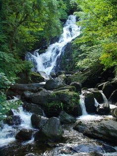 The gorgeous Torc Waterfall.