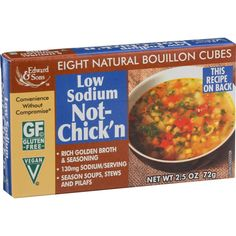 Edwards And Sons Natural Bouillon Cubes - Not Chick N - Low Sodium - 2.5 Oz - Case Of 12
