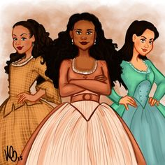 angelica . . . eliza . . . and peggy, the schuyler sisters!