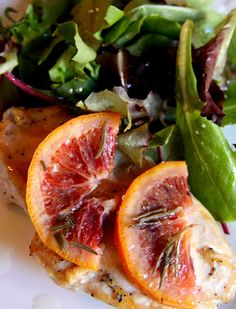 Negroni Chicken With Braised Blood Oranges Recipes — Dishmaps