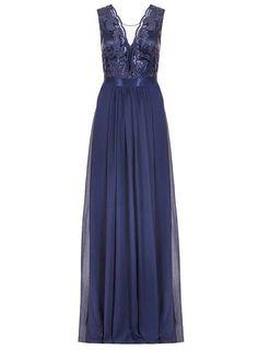 **Quiz Sequin Scallop Neck Maxi Dress