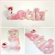 Personalised name banner made from felt. Ballerina theme with ballet dance, butterflies and ballet shoes. Made by The Banner Boutique
