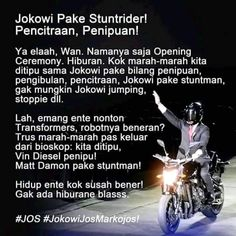 Jokowi Pake Stunt Rider Asian Games, Vin Diesel, Opening Ceremony, Stunts, Aud, Transformers, Memes, Waterfalls, Meme