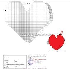 pegador coração | Receitas do Croche Croche!