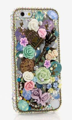 AB Crystals Vintage Design bling crystals case handmade for iPhone 4/ 4s. More design available here > http://luxaddiction.com/collections/3d-designs