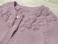 Ravelry: Little Posy Yoke Cardie pattern by Sublime Yarns