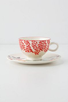Evenings In Quito Cup & Saucer @ Anthropologie.