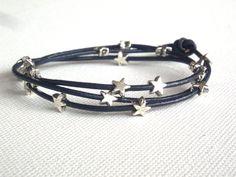 Schmuck - Armband Sterne schwarz - ein Designerstück von frollein-mueller bei DaWanda