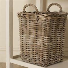 Wyndham Grey Rattan Basket