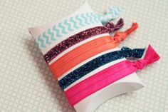 Tropics Hair Ties set of five from Girls Day Out by girlsdayout, $8.00