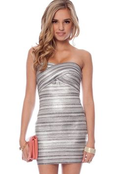 Shine On Strapless Dress