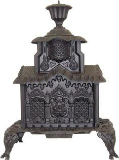 Antique wood burning stove.