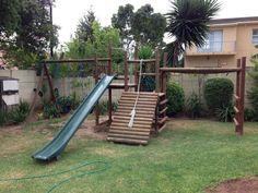 Kids Wooden Jungle Gym. Backyard Play.