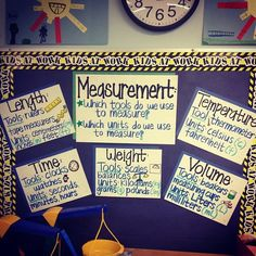 Measurement bulletin board from my student teaching semester