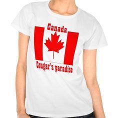 Canada cougar's paradise tshirt