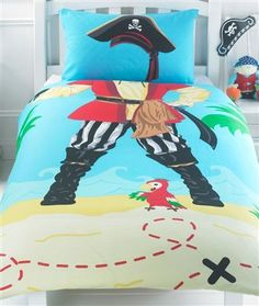 When I grow up I want to be a Pirate Single Duvet Cover