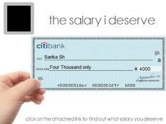 How Much Salary Do You Deserve to Be Paid? Find at http://apps.funquizzo.com/my_salary