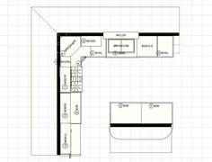 Etonnant 10 X 12 Kitchen Layout | 10 X 12 Kitchen Design