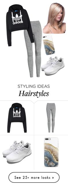 """""""Untitled #2980"""" by vireheart on Polyvore featuring Treasure & Bond, adidas Originals, adidas and Nicole Miller"""