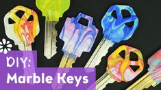 Customize your keys with a water marble technique!