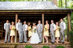 Rustic Chic Pink, Yellow & Grey DIY Wedding   Bridal Musings